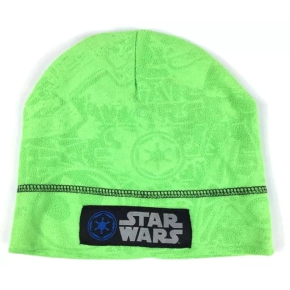 aaffddc9f6e Lime Green Star Wars Kids Beanie Winter Hat OS boy